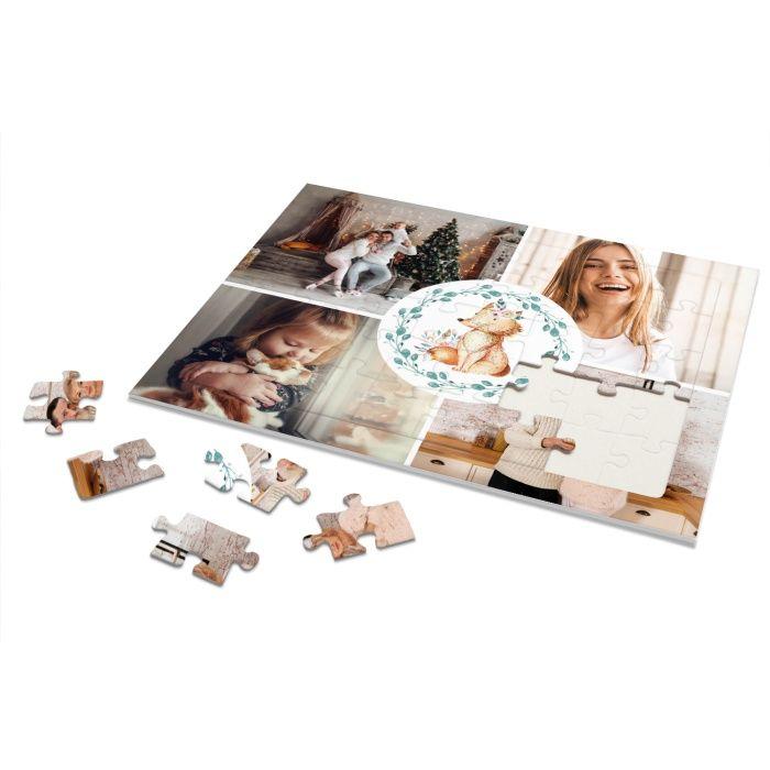Rahmenpuzzle für Kinder mit vielen Fotos und kleinen Fuchs - 40 Teile