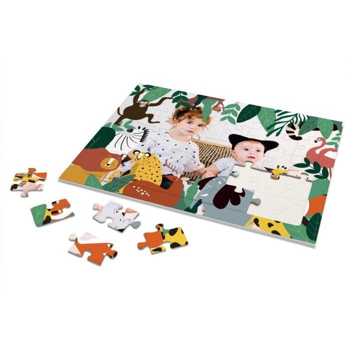 Rahmenpuzzle für Kinder Thema Dschungel mit eigenem Foto - 40 Teile