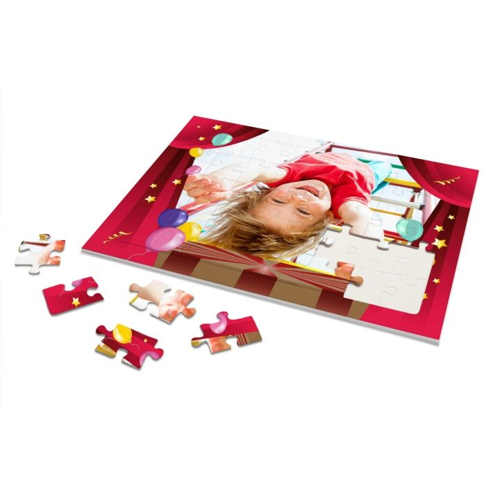 Rahmenpuzzle für Kinder zum Thema Zirkus mit eigenen Foto - 40 Teile
