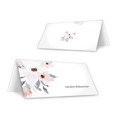 Tischkarte für die Hochzeit