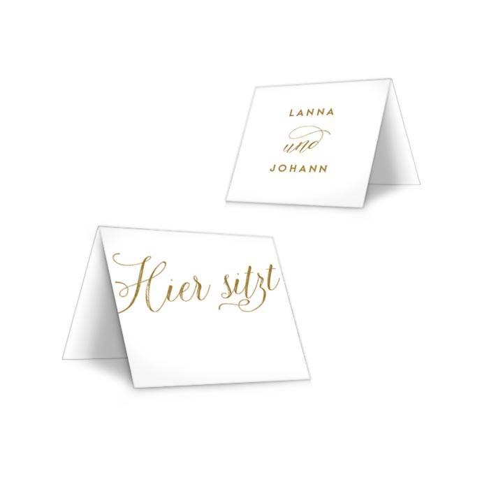 Romantische Tischkarten zur Hochzeit im Kallgraphie Stil