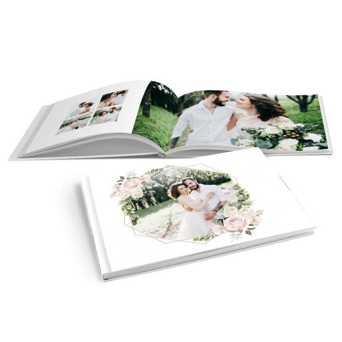 Romantisches Fotobuch zur Hochzeit mit Aquarellrosen