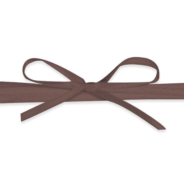Hochwertiges Satinband in Dunkelbraun - für Ihre Hochzeit