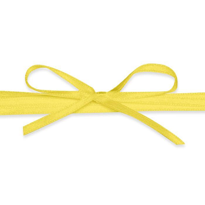 Hochwertiges Satinband in Gelb - für Ihre Hochzeitsdetails