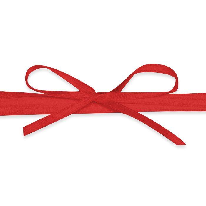 Hochwertiges Satinband in Rot - für Ihre Hochzeitsdetails
