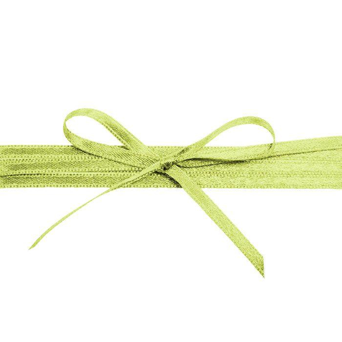 Hochwertiges Satinband in Apfelgrün - für Ihre Hochzeit