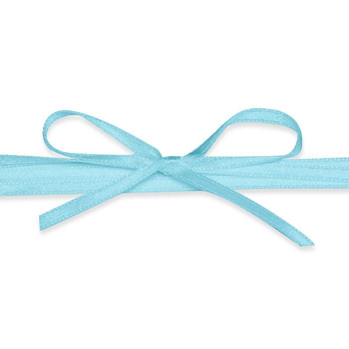 Hochwertiges Satinband in Blau - für Ihre Hochzeitsdetails