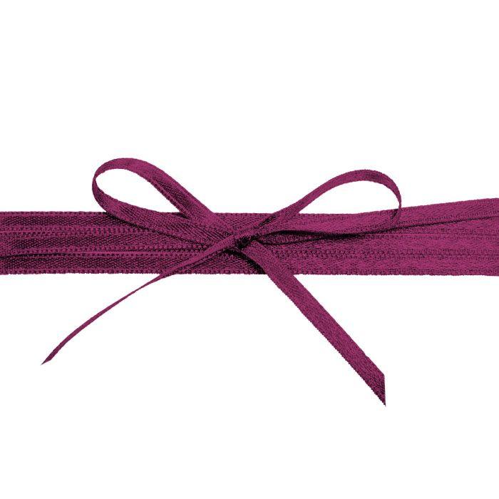 Hochwertiges Satinband in Bordeaux - für die Hochzeit