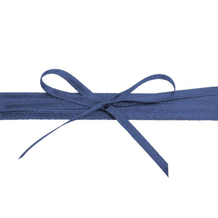 Hochwertiges Satinband in Dunkelblau - für die Hochzeit