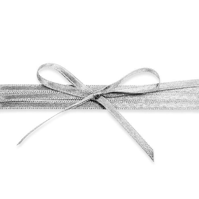 Hochwertiges Satinband in Grau - für Ihre Hochzeitsdetails