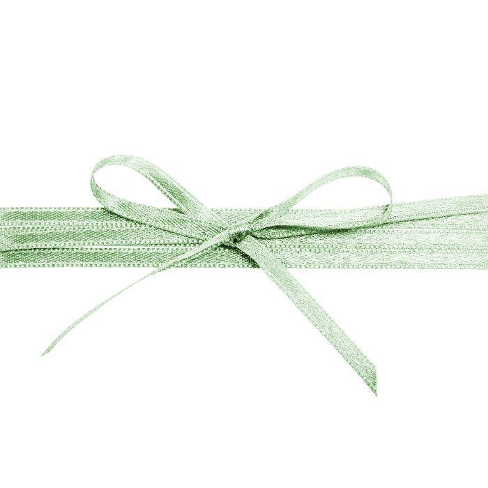 Hochwertiges Satinband in Pastellgrün - für Ihre Hochzeit
