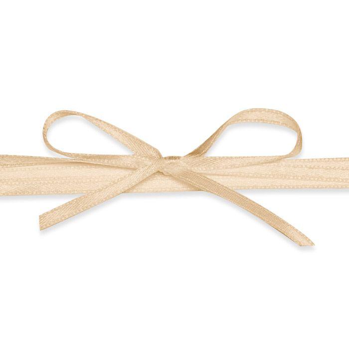 Hochwertiges Satinband in Pastellorange - für die Hochzeit