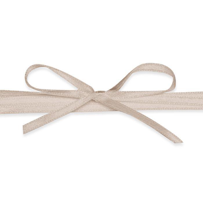 Hochwertiges Satinband in Taupe - für Ihre Hochzeitsdetails