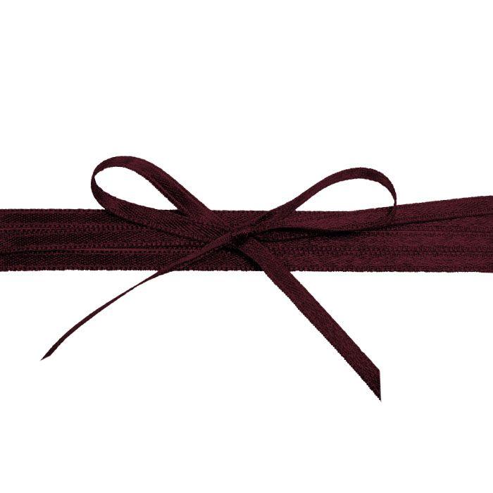 Hochwertiges Satinband in Weinrot - für die Hochzeitsdetails