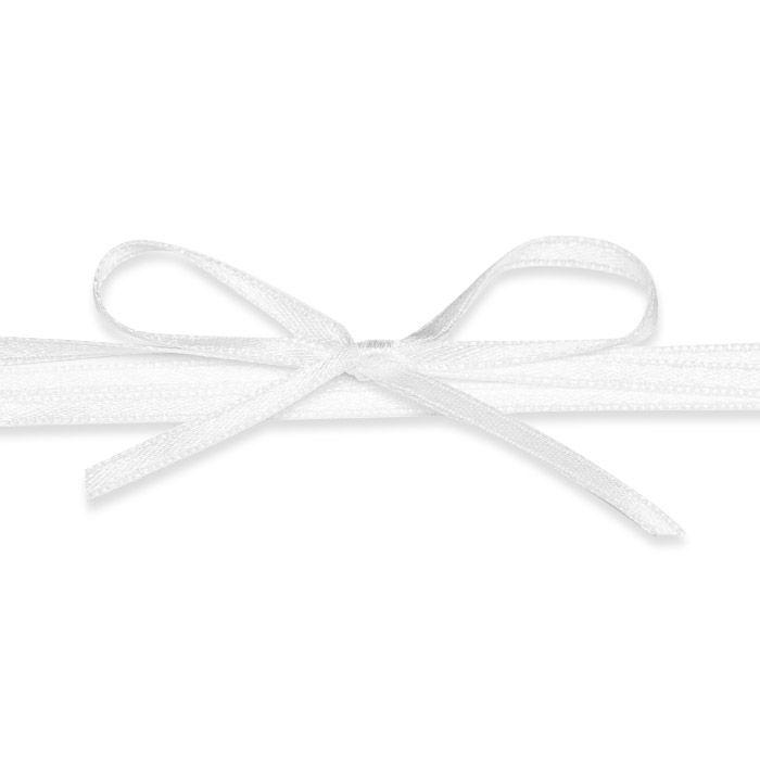 Hochwertiges Satinband in Weiß - für Ihre Hochzeitsdetails