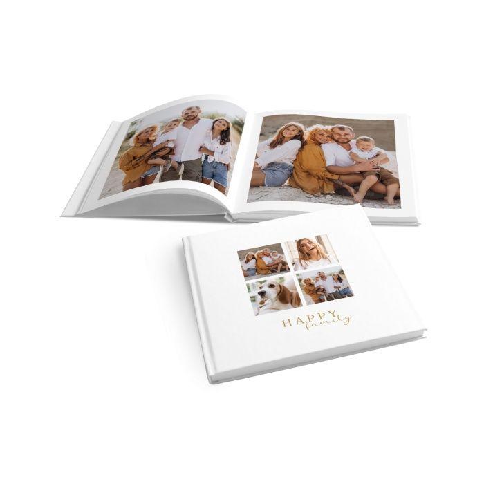 Schickes Fotobuch für Familienfotos im schlichten Design