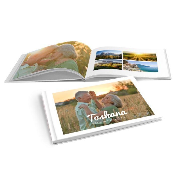 Schlichtes Fotobuch für Urlaubsfotos mit Schriftzug