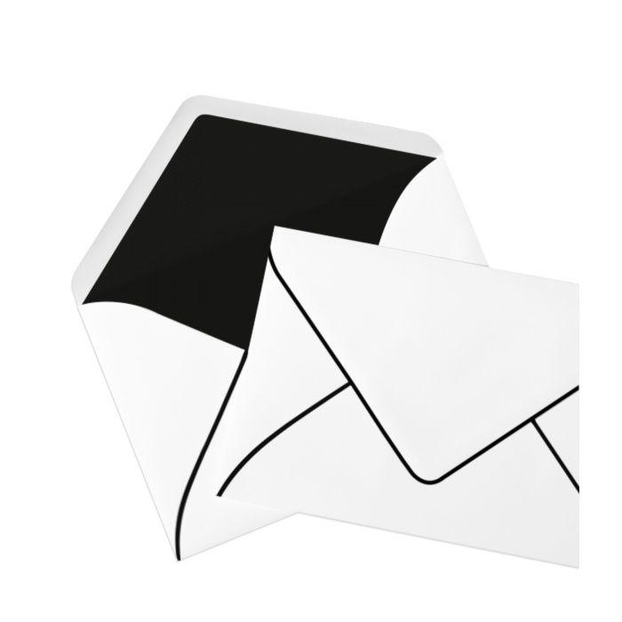 Briefumschlag Seidenfutter Trauer (120 x 180 mm)