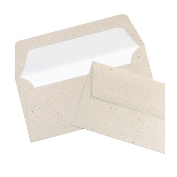 Briefumschlag Seidenfutter Terra Vanilla (220 x 110 mm)