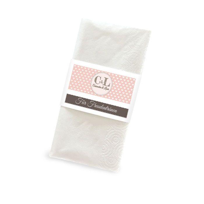 Banderole für Freudentränen Taschentücher im Retrostil
