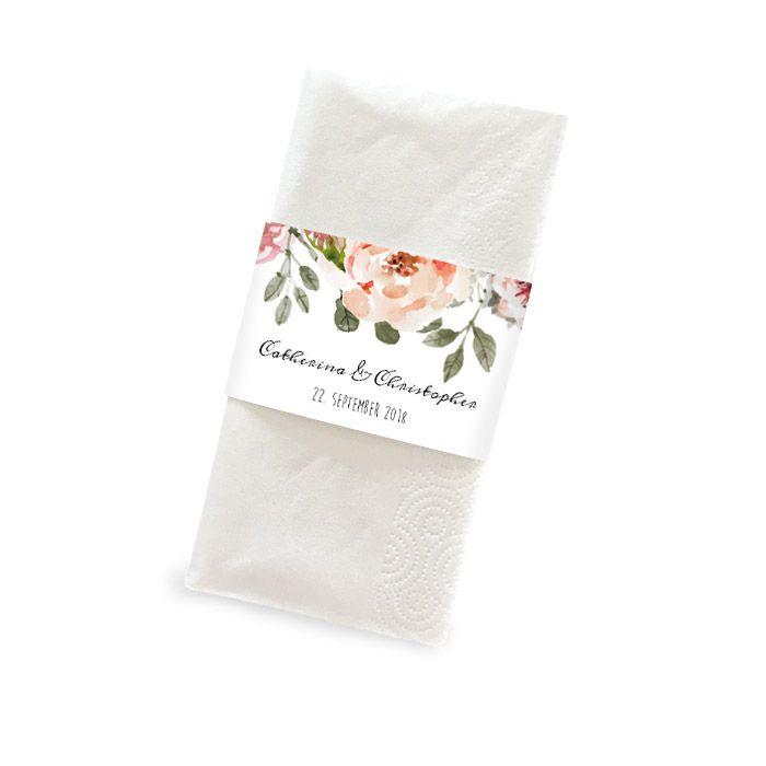 Banderole für Freudentränen-Taschentücher im Watercolorstil
