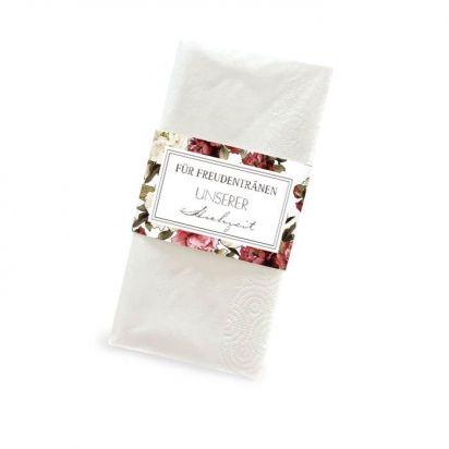 Banderole für Taschentücher