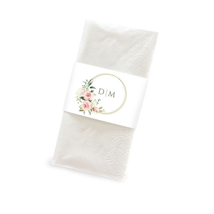 Banderole für Taschentücher mit botanischem Goldreif