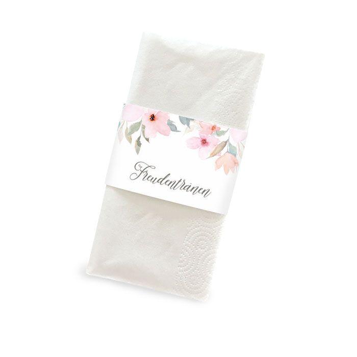 Taschentuchbanderole im pastellfarbenen Blumen Design