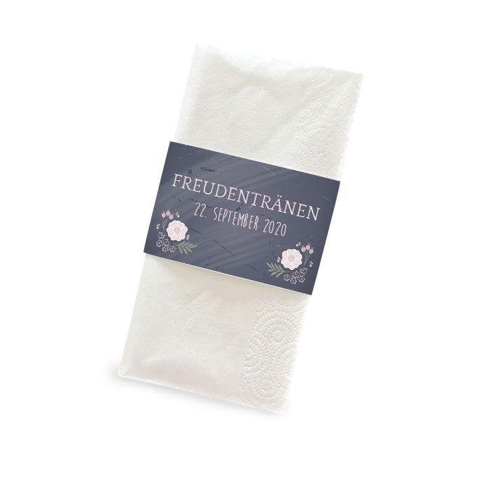 Banderolen für Freudentränen Taschentücher in Schieferoptik