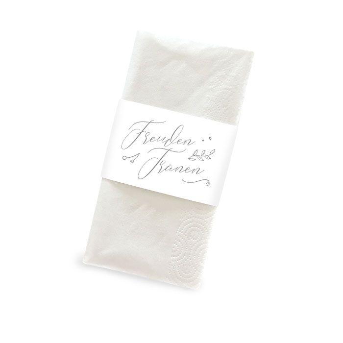 Banderole für Freudentränen Taschentücher mit Kalligraphie