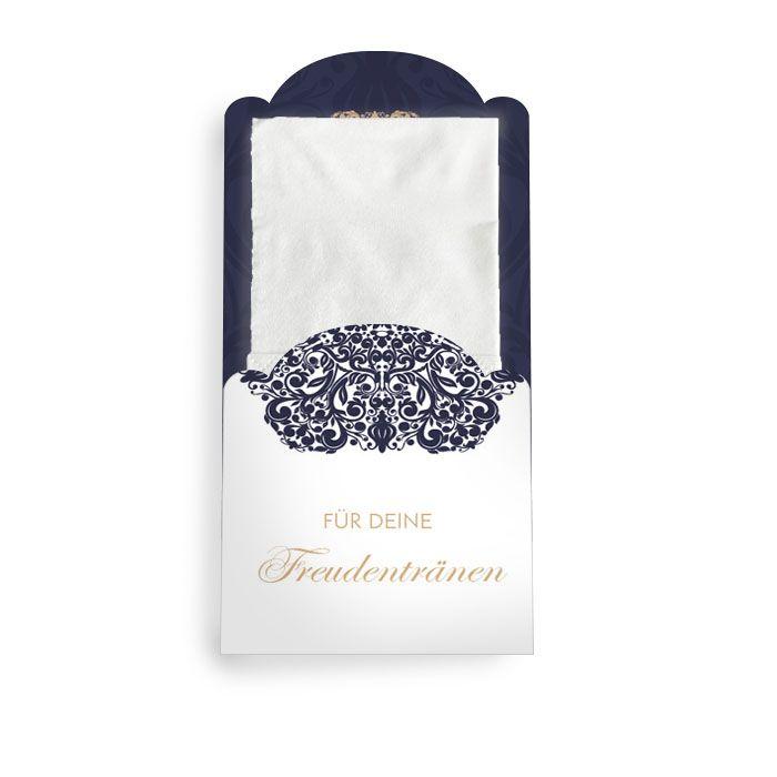 Hüllen für Freudentränen Taschentücher mit barockem Ornament
