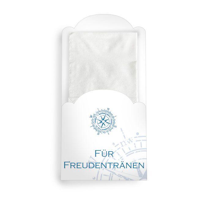 Hüllen im maritimen Design für Freudentränen Taschentücher