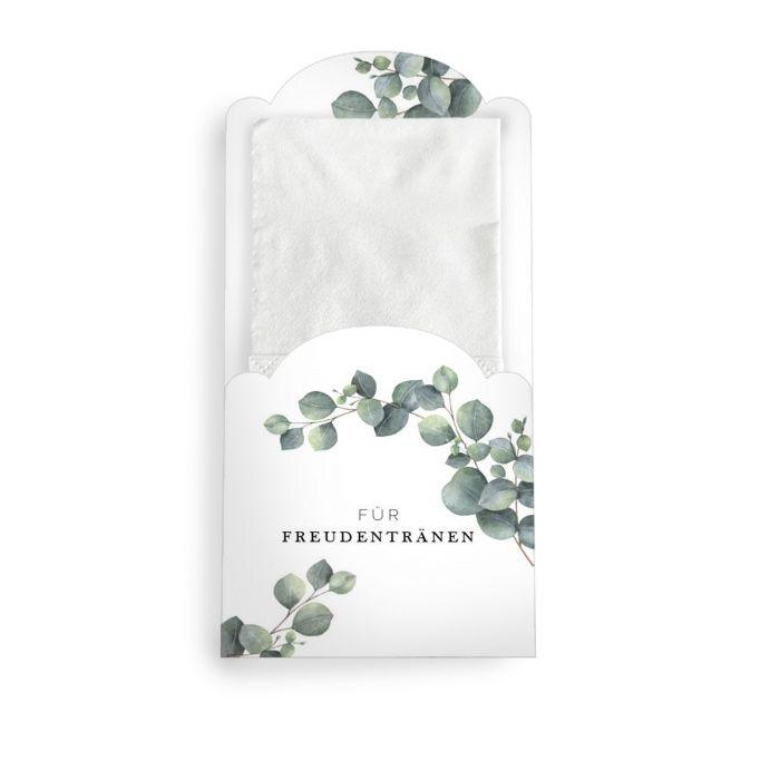 Taschentuchhülle für Freudentränen mit Eukalyptus