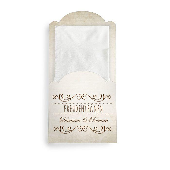 Hüllen für die Freudentränen Taschentücher im Shabby Chic