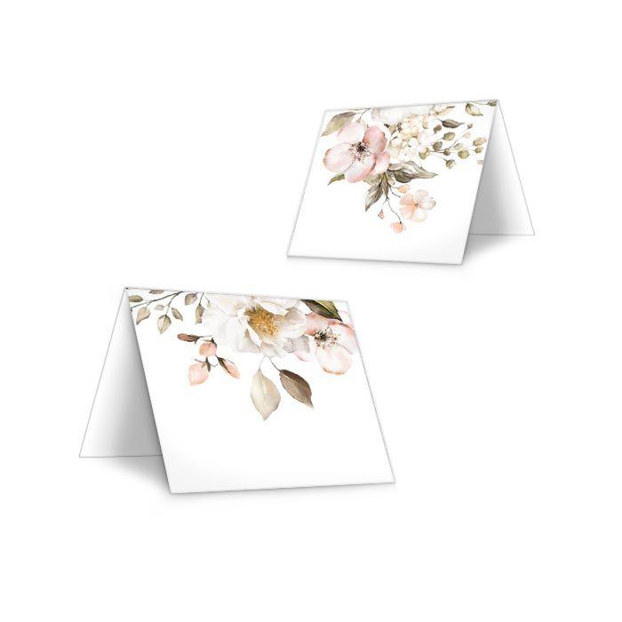 Tischkarte für die Hochzeitstafel mit Blumen-zum Beschriften
