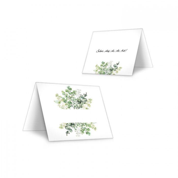 Tischkarte für Ihre Hochzeit im Greenery Style zum Beschriften