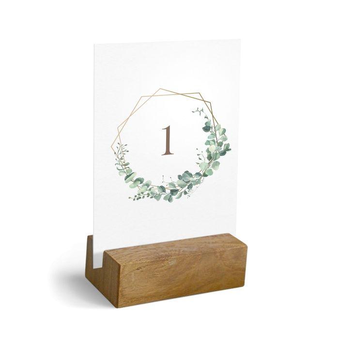Greenery Tischkarte für Ihre Hochzeitstafel mit Eukalyptus