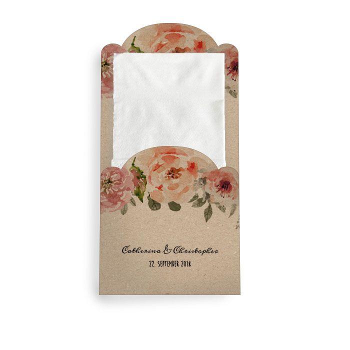 Hülle für Freudentränen Taschentücher im Kraftpapierstil