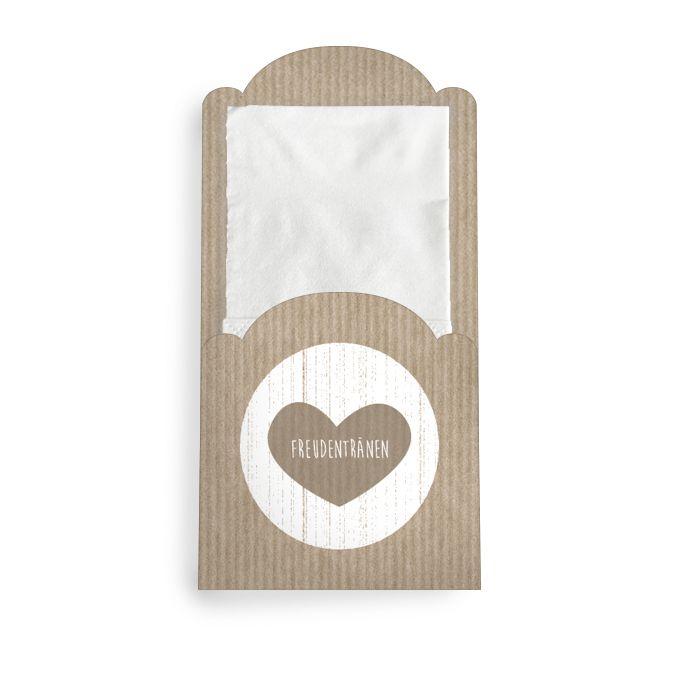 Hüllen für die Freudentränen Taschentücher im Packpapierstil