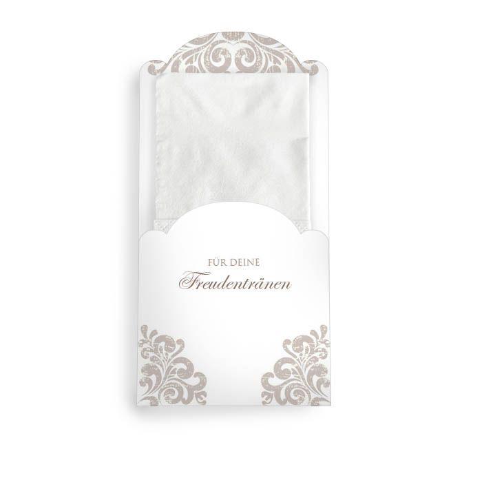 Hülle für Freudentränen Taschentücher zur Hochzeit