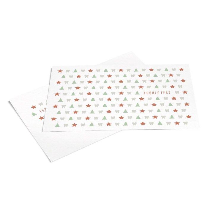Weihnachtspostkarte für Zahnärzte