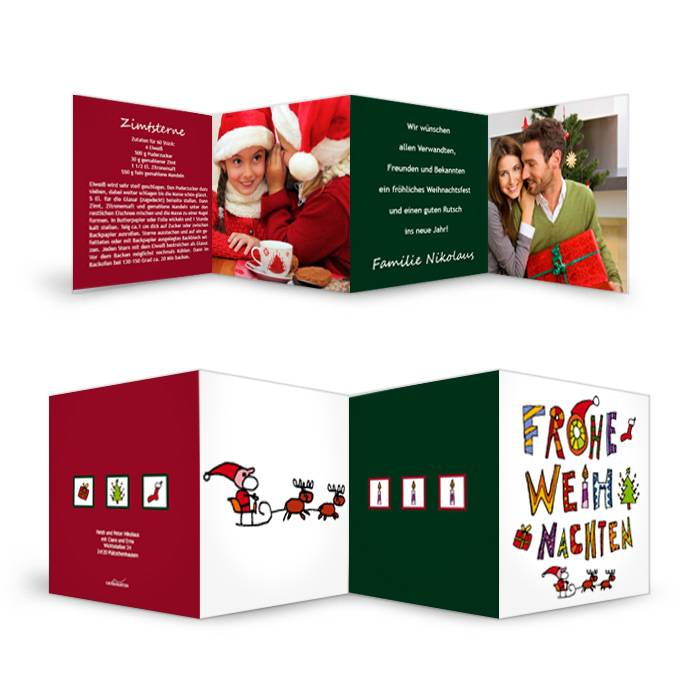 Außergewöhnliche Weihnachtskarte mit tollem Schriftzug