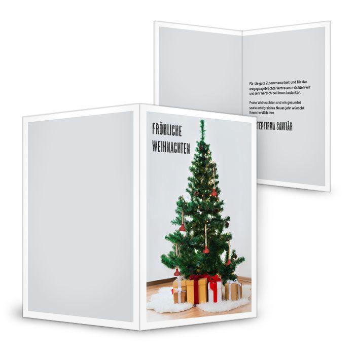 Moderne Weihnachtskarte für Sanitärfirmen