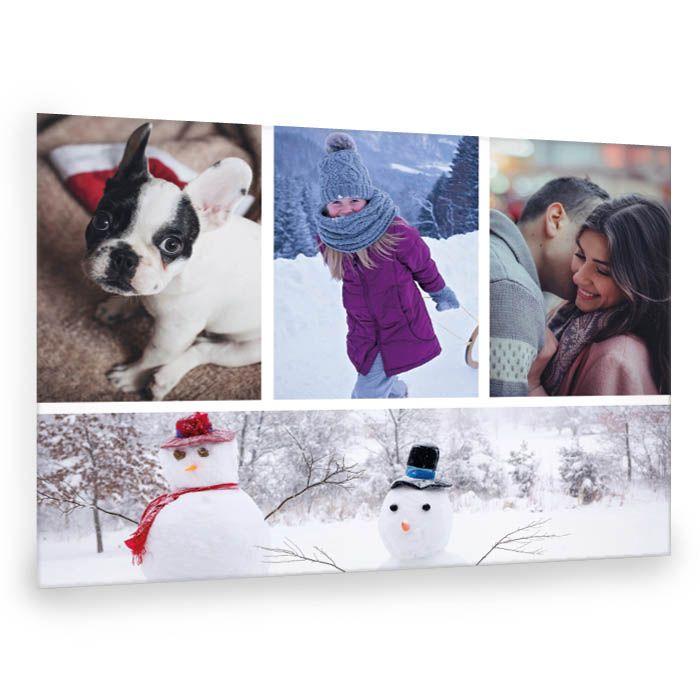 Winterliche Fotocollage als persönliches Weihnachtsgeschenk