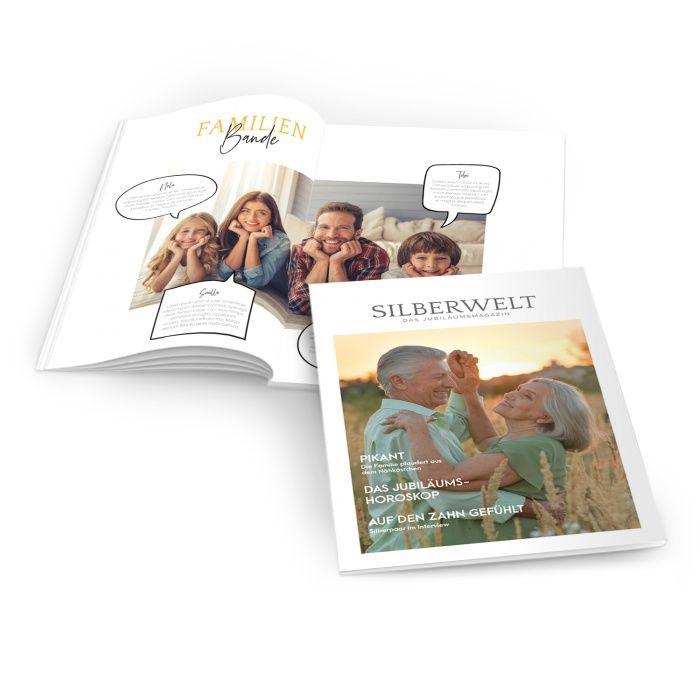 Zeitung zur Silberhochzeit im Magazinstil mit Foto und Titelthemen - online selbst gestalten