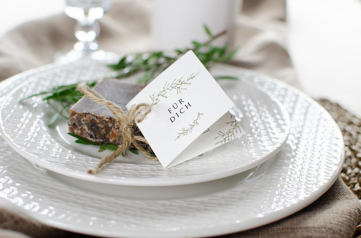 Anhänger für Gastgeschenke zur Hochzeit - carinokarten