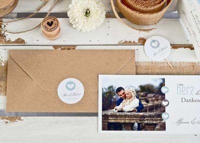 Hochzeitsaufkleber Drucken Lassen Cariñokarten