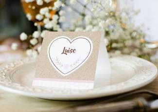 Hochzeitseinladung als Booklet - Samantha und Julien